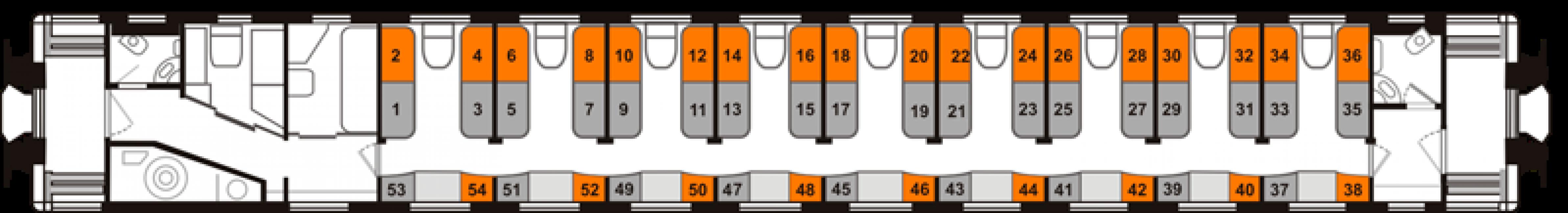 Схема поезда плацкарт фото