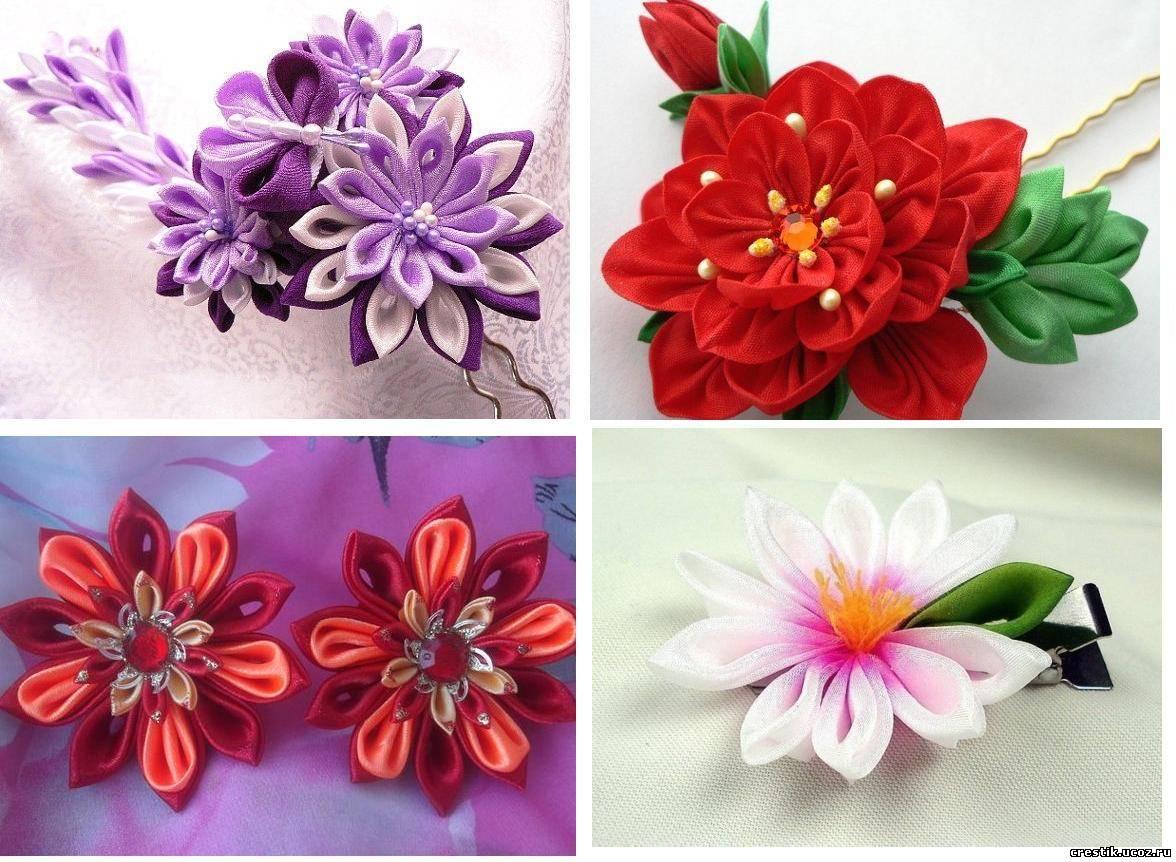 Цветы из лент своими рукам страна мастеров 75