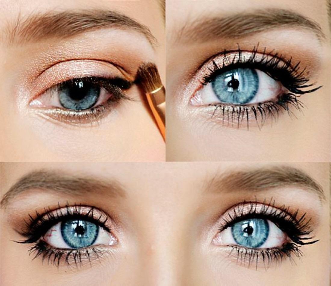 Как сделать глаза еще голубее в домашних  527