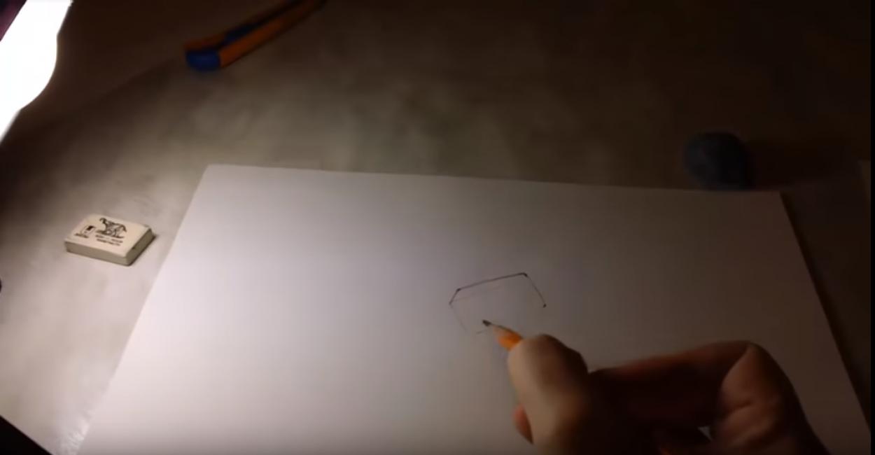 Контур будущего рисунка
