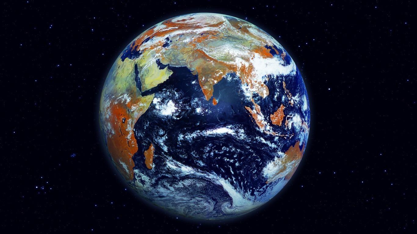 Вид планеты со спутника