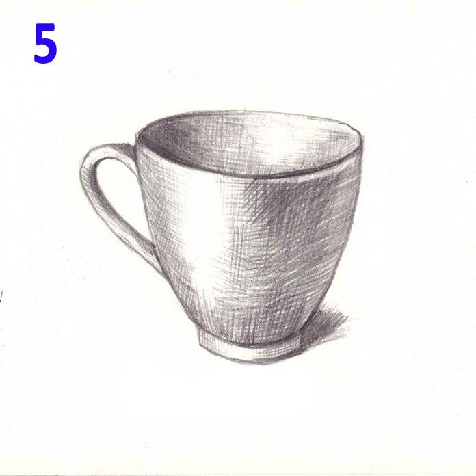 Заштрихованная чашка