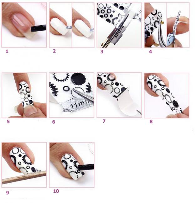Такие нужно вырезать по форме ногтя