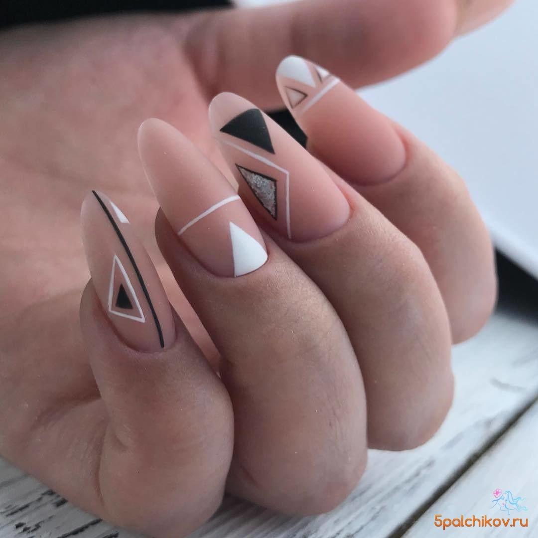 Простые рисунки на ногтях: маникюр дома + 25 ФОТО (25)