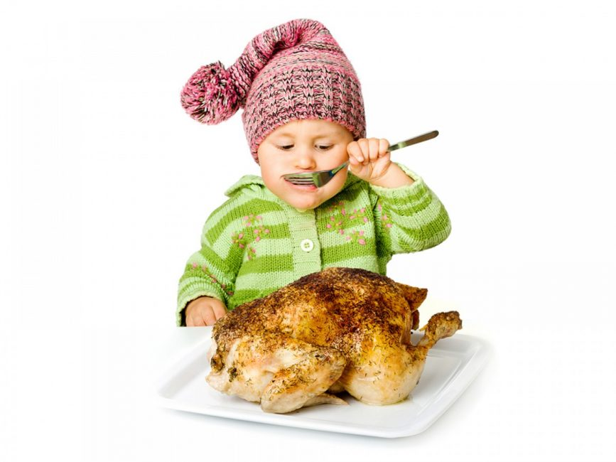 Отварная курица идеально подойдет в качестве первого мяса