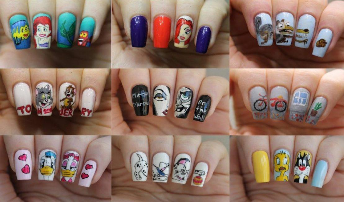 Яркие и веселые рисунки на ногтях