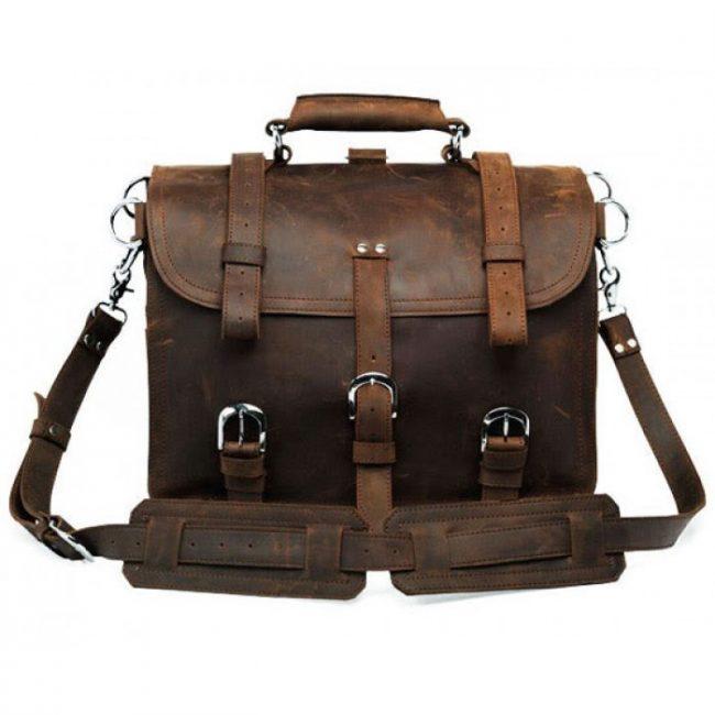 Удобный кожаный портфель