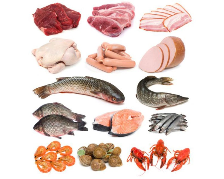 Употребляя в пищу мясные продукты и дары моря, можно не беспокоиться о дефиците питательных веществ.
