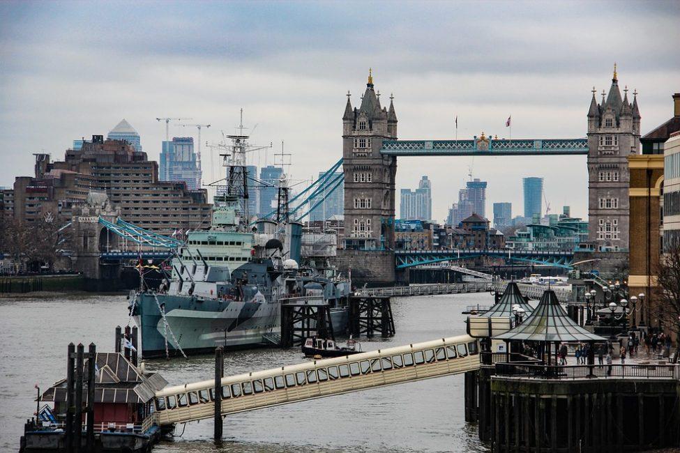 Лондон. Вид на большой город