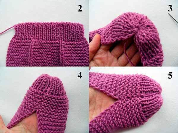 Порядок прорабатывания носочка тапка