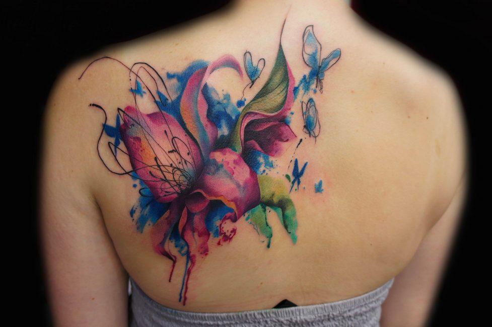Цветная тату в современном стиле