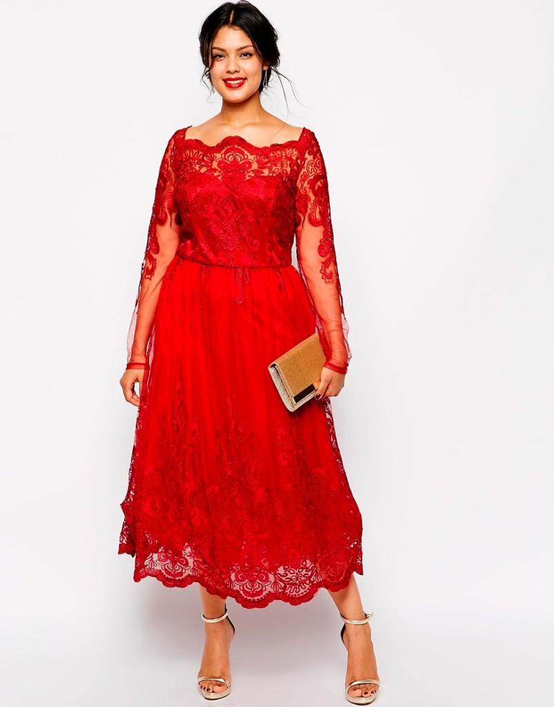 Хороший вариант подбора вечернего платья в стиле new look