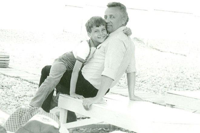 Галкин с отцом