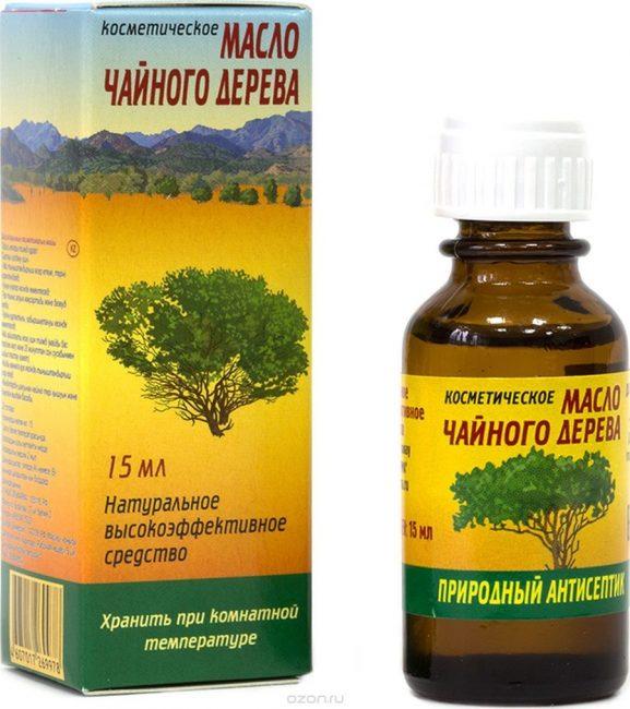 Масло чайного дерева используется для подсушивания прыщей, в том числе и при герпесе