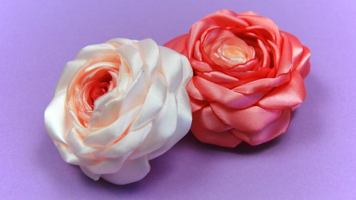 6-1157x650 Цветы из лент своими руками – 6 мастер-классов для новичков