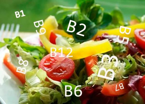 Содержание в продуктах витаминов группы B