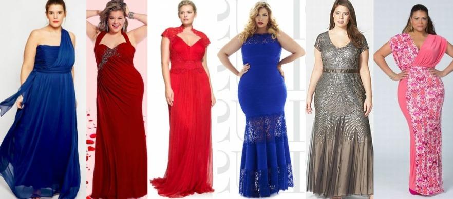 Нарядные вечерние платья для полнотелых женщин