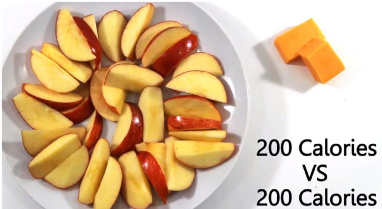 В различной еде разное количество калорий