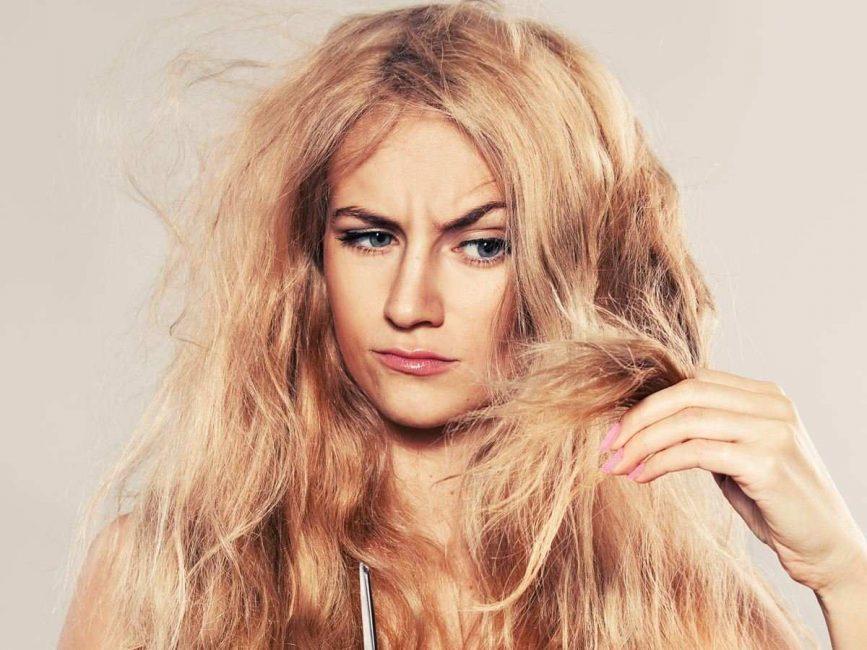 Краски для волос с блондераном портят их структуру