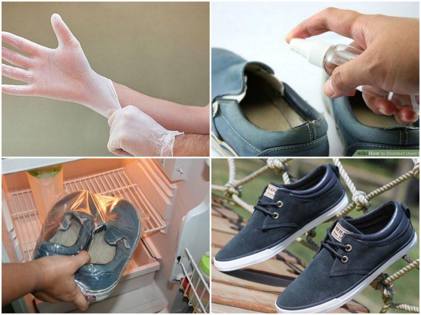 Обувь можно спасти обычным уксусом