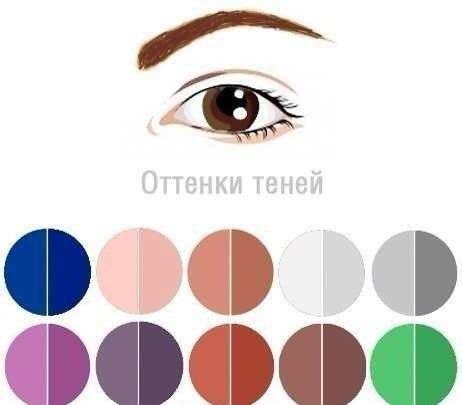 Оттенки для карих глаз