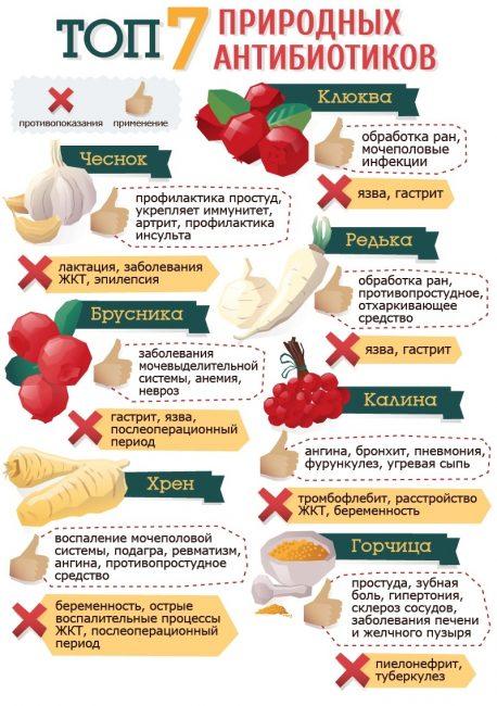Примеры природных антибиотиков