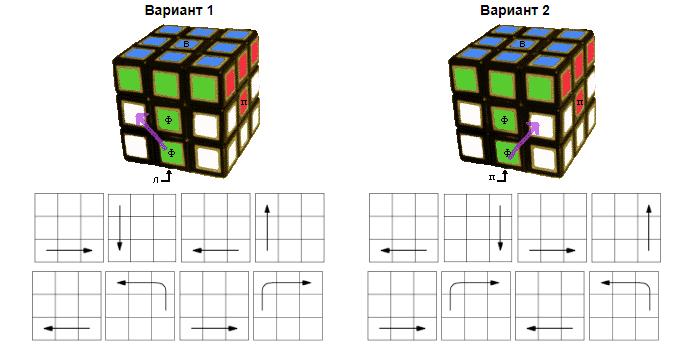 Продолжаем сборку кубика Рубика