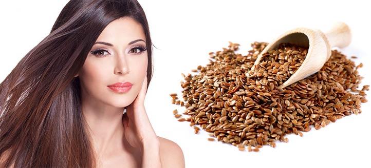 В льняном семени есть Омега 3 жиры, лигнаны и альфа-линоленовая кислота. Все они благотворно влияют на ваши волосы, делая их здоровыми роскошными