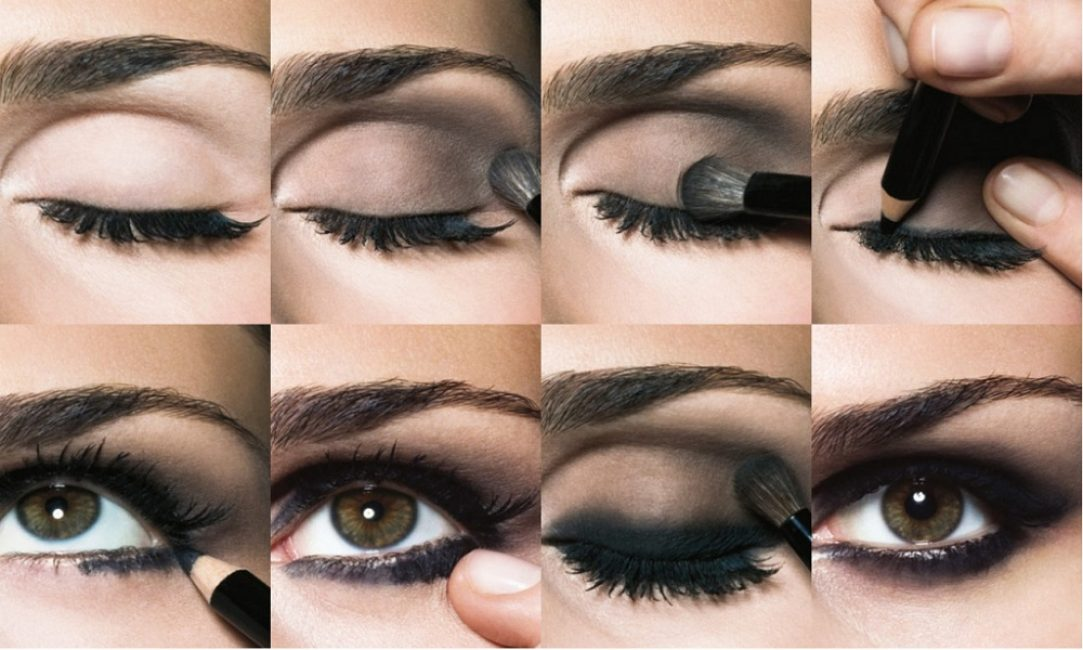 Макияж Smoky Eyes для карих глаз