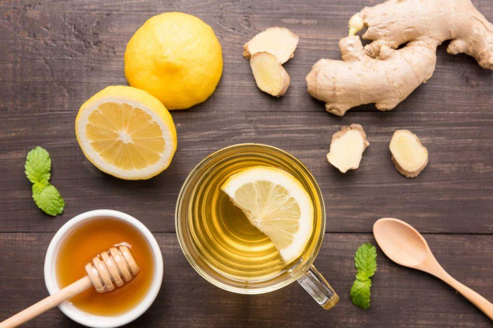 Лимон, мед и имбирь
