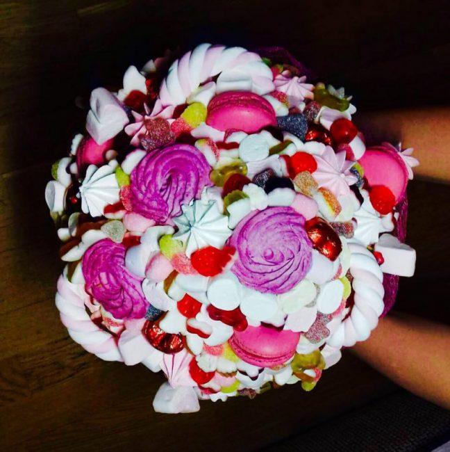 Цветы из зефира