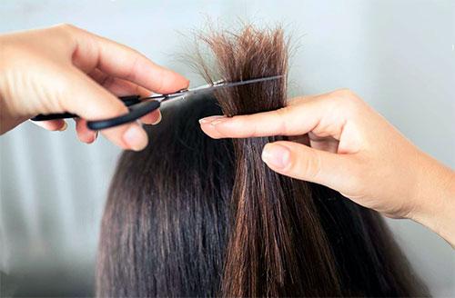Кончики окрашенных волос иногда секутся