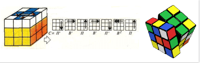 Этап сборки кубика рубика