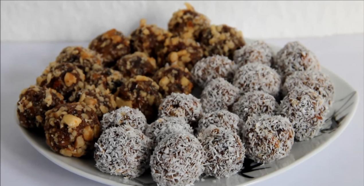 Домашние конфеты с сухофруктами и медом
