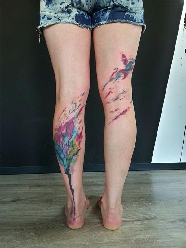 Татуировка в стиле абстракционизм