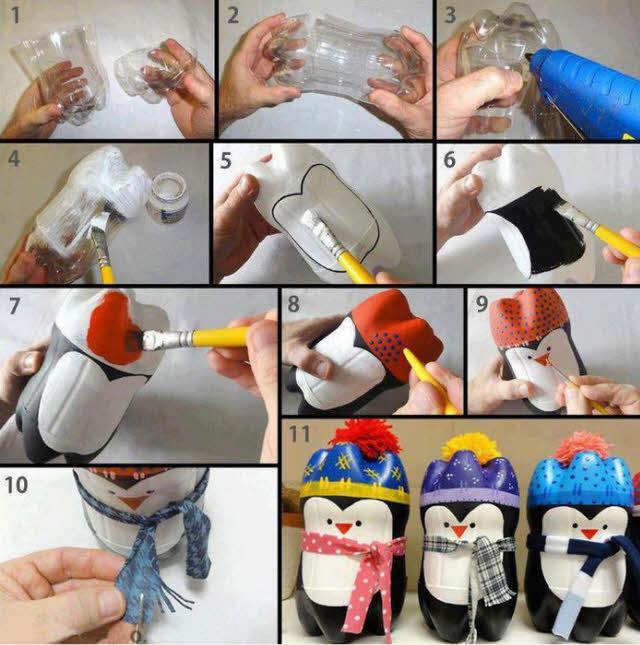 Если есть какой-то ненужный помпон, например, от старой детской шапки, отрежьте его и прикрепите на шапку игрушки. Так она будет смотреться еще интереснее.