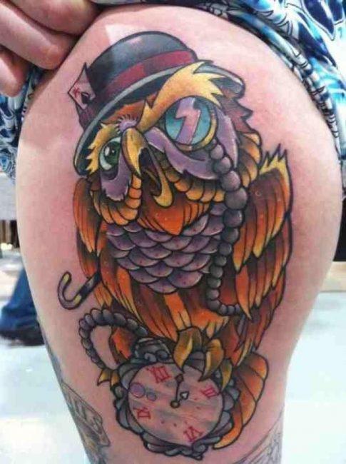 Татуировка в стиле Нью скул