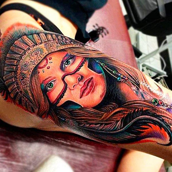 Татуировка в стиле портрет