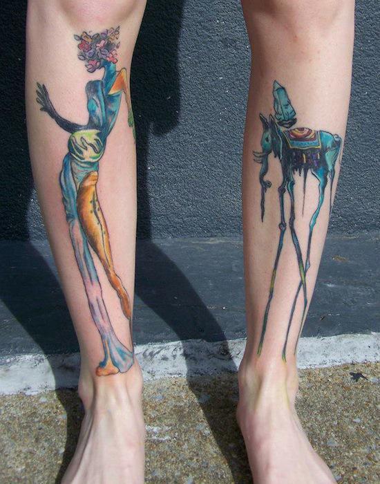 Татуировка в стиле сюрреализм