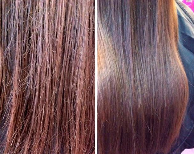 Разница между поврежденными и здоровыми волосами