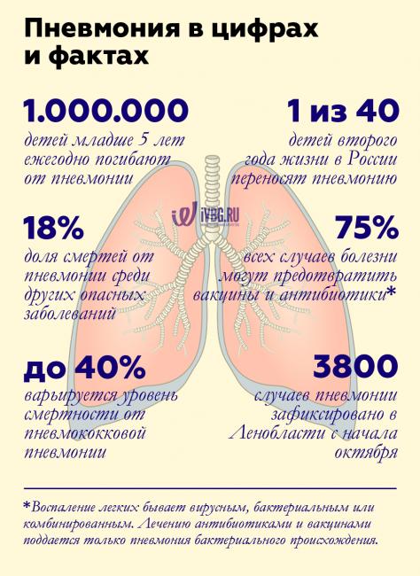 Факты о пневмонии