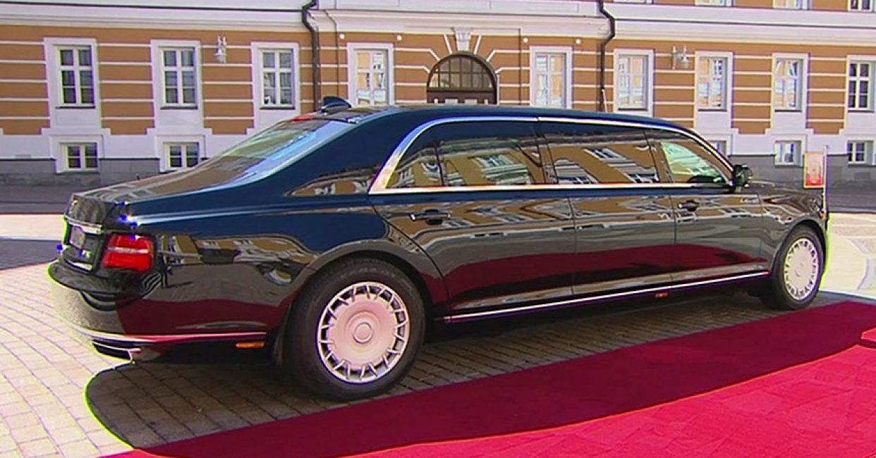 Задняя часть Ауруса на инаугурации президента России