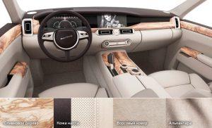 Варианты интерьера лимузинов Aurus