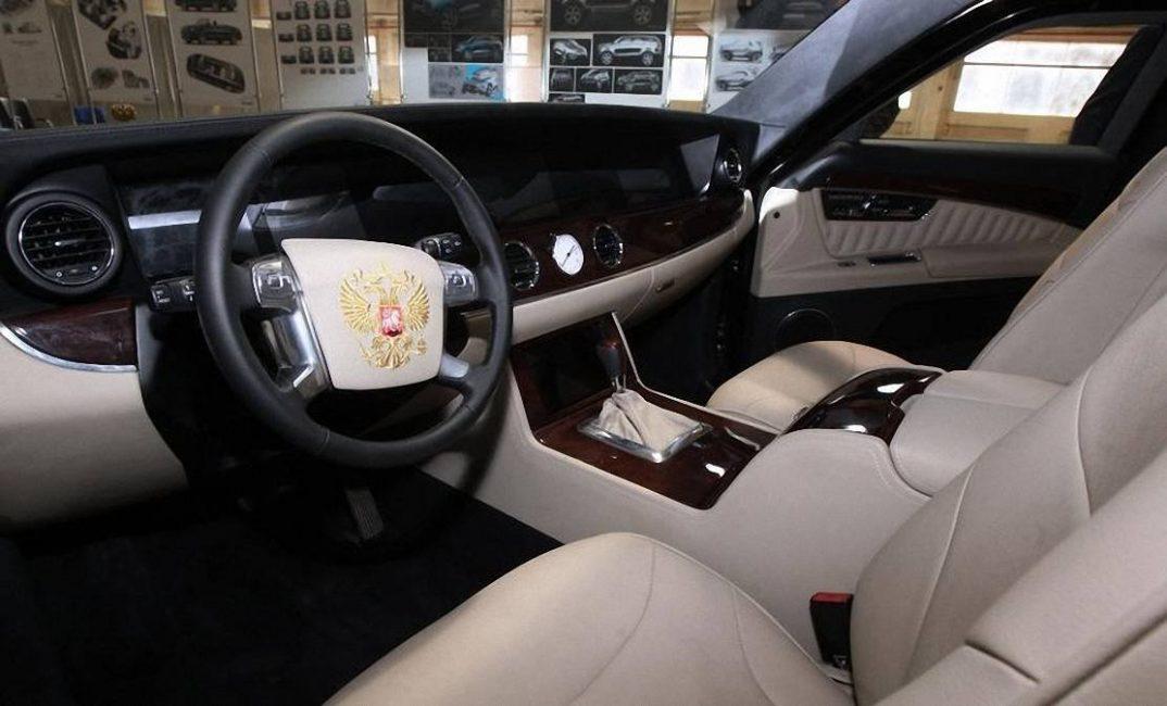 Салон автомобиля проекта «Кортеж» который планировалось делать на автомобилях в 2015 году