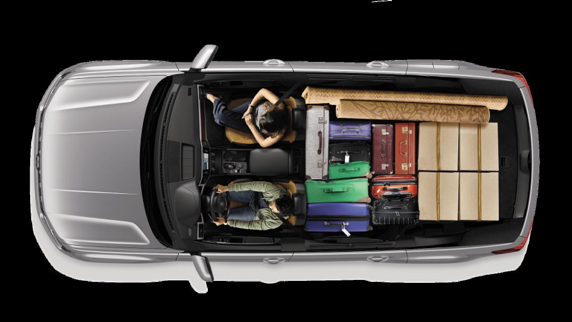 Объём багажного отделения при сложенных двух рядах сидений у Фольксвагена Терамонт