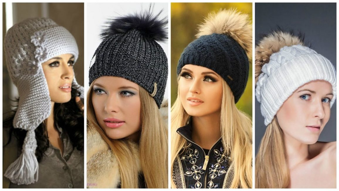 Несколько видов шапок, которые можно связать своими руками