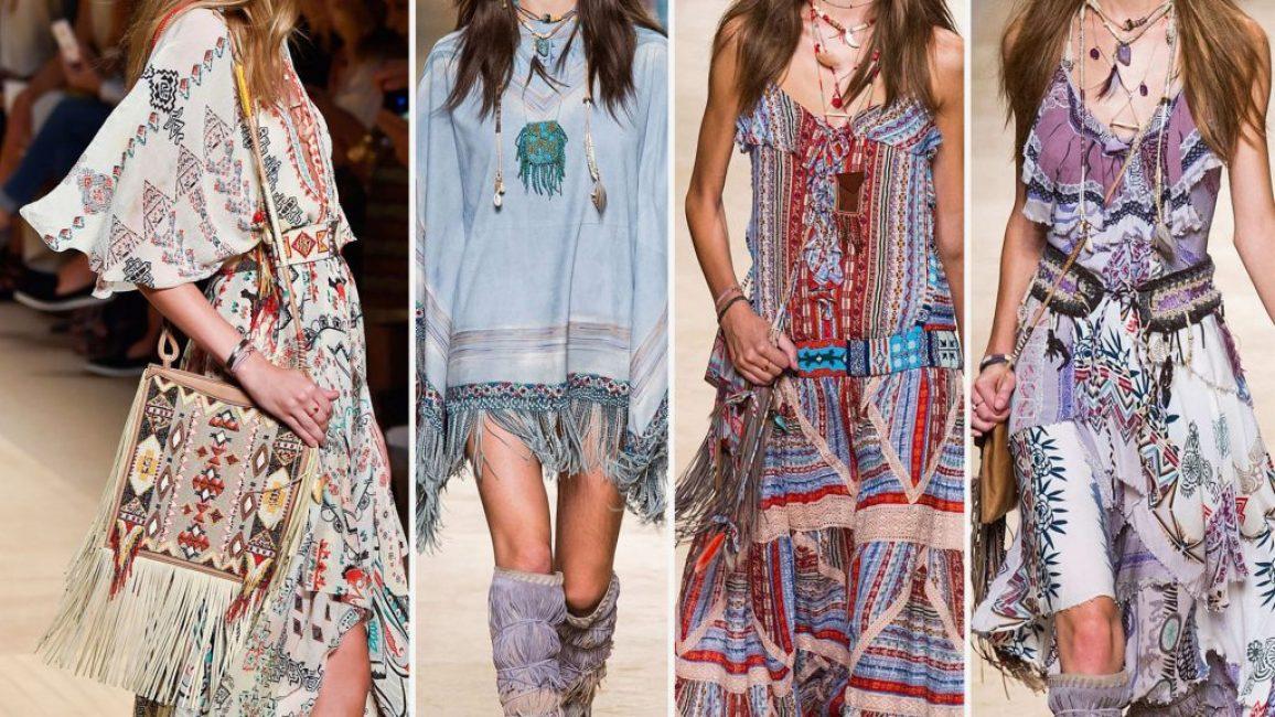 Интересные варианты нарядов в стиле бохо