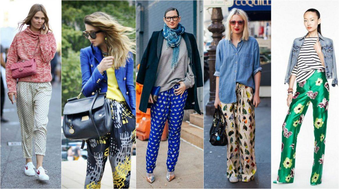 Смелые модницы могут порадовать себя пижамными штанами