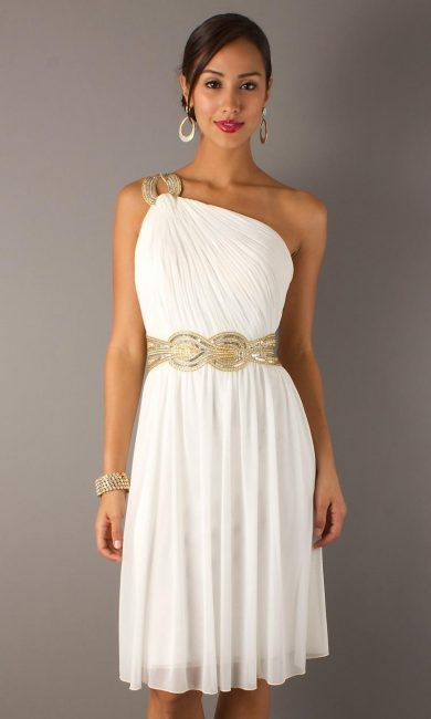 Платье для выпускного в греческом стиле