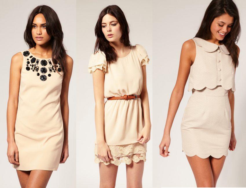 Нюдовые платья